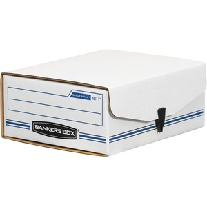 "Bankers Box Liberty Binder Pak Storage Box - Internal Dimension 4.37"" Height x 9.12"" Width x 11.38"" Depth x - External Dimensions 4.75"" Height x 9.75"" Width x 11.87"" Depth - Plastic - White, Blue"