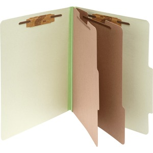 "Acco Classification Folder - Letter - 8.5"" x 11"" - 2 Divider - 3"" Capacity - 10 / Box - Earth Red"