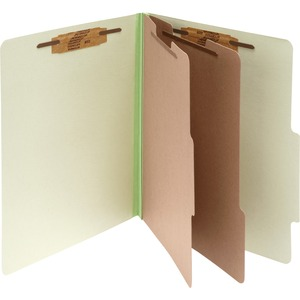 "Acco Classification Folder - Legal - 8.5"" x 14"" - 2 Divider - 3"" Expansion - 10 / Box - 25pt. - Green"