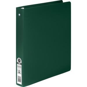 Acco Brands Corporation Wilson Jones® Accohide® Round Ring Binder - 1 Binder Capacity - Letter - 8 1/2 X 11 Sheet Size - 175 Sheet Capacity - Round Ring Fastener(S) - 35 Pt. Binder Thickness - Polypropylene - Dark Green - 1 Each