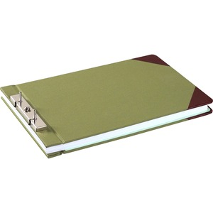 "Wilson Jones Slotted Lock Post Binder - Legal - 8.5"" x 14"" - 3"" Capacity - 1 Each - Green"