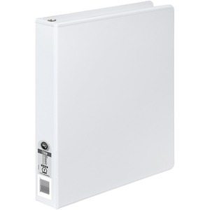 "Wilson Jones Round Ring View Binder - Statement - 5.5"" x 8.5"" - 1"" Capacity - 1 Each - White, Clear, Clear"