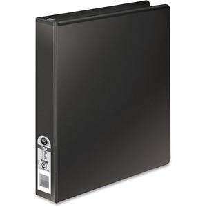 "Wilson Jones Round Ring View Binder - Letter - 8.5"" x 11"" - 1"" Capacity - 1 Each - Black, Clear, Clear"