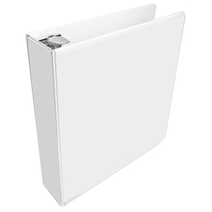 "Wilson Jones Round Ring View Binder - Letter - 8.5"" x 11"" - 1"" Capacity - 1 Each - White, Clear, Clear"