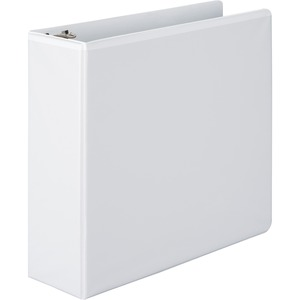 "Wilson Jones Round Ring View Binder - Letter - 8.5"" x 11"" - 480 Sheet x 3"" Capacity - 1 Each - White, Clear, Clear"