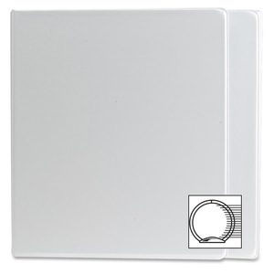 "Wilson Jones Round Ring View Binder with Label Holder - Letter - 8.5"" x 11"" - 1.5"" Capacity - 1 Each - White"
