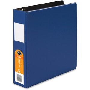 "Wilson Jones Dubllock Round Ring Binder - Letter - 8.5"" x 11"" - 375 Sheet x 2"" Capacity - 1 Each - Dark Blue"