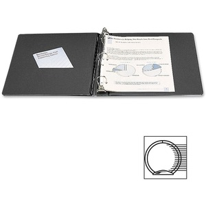 "Wilson Jones Ring Label Holder Binder - Letter - 8.5"" x 11"" - 375 Sheet x 2"" Capacity - 1 Each - Black"