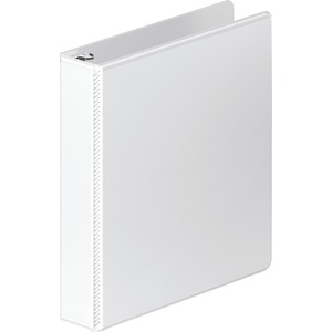 "Wilson Jones Dubllock D-ring View Binder - Letter - 8.5"" x 11"" - 1.5"" Capacity - 1 Each - White"