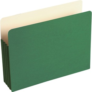 "Wilson Jones ColorLife File Pocket - 3.5"" Expansion - 9.5"" x 11.75"" - 10 / Box - Green"
