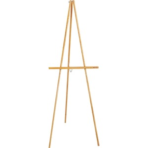 Acco Brands Corporation Quartet® Lightweight Wood Display Easel, 64, Tripod Base - 64 Height - Wood - Oak