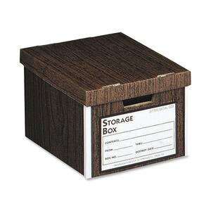 "Sparco File Storage Box - Letter, Legal - External Dimensions 12"" Height x 15"" Width x 10"" Depth - Woodgrain"