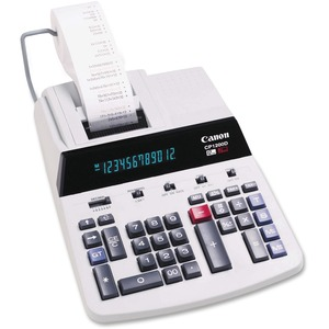"Canon CP1200D Printing Calculator - 12 Character(s) - Fluorescent - AC Supply Powered - 8.33"" x 11.62"" x 3"""