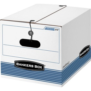 "Bankers Box Liberty Storage Box - Letter, Legal - Internal Dimension 10.25"" Height x 12"" Width x 15.5"" Depth x - External Dimensions 11"" Height x 12.25"" Width x 16"" Depth - Fiberboard - White"
