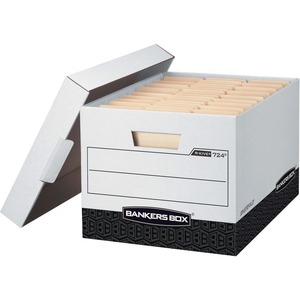 Bankers Box R-Kive - Letter/Legal, White/Black FEL00724