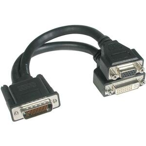 C2G 9IN 1XLFH-59 MALE TO 1XDVI FEM &1XVGA FEM CABLE