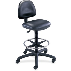 "Safco Precision Extended Height Drafting Chair - Black Frame26"" x 24"" x 33"" - Vinyl Vinyl Black Seat"