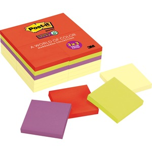 Post-it Super Sticky Notes in Canary Yellow/Electric Glow Colors MMM65424SSCYN