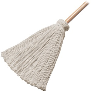 Wilen Professional H10016-011 General Purpose Deck Mop - Cotton Head - Metal Handle - Cut Ends - 1 Each