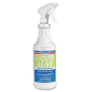 ITW Dymon Liquid Alive Odor Digester - Spray - 32fl oz - White