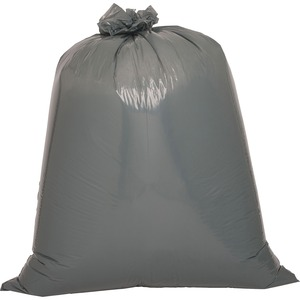 "Genuine Joe Maximum Strength Trash Can Liner - Trash Bag - 55 gal39"" x 56"" - 1.7mil Thickness - Resin - 50 / Box - Silver, Black"