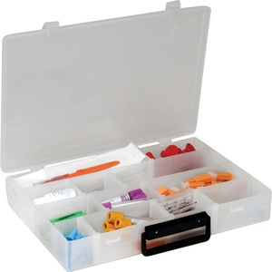 "Unimed-Midwest Infinite Divider System Box with Handle - External Dimensions 2.18"" Height x 13.5"" Width x 9.5"" Depth - Polyethylene - Translucent"