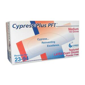 Cypress Plus Cypress Plus Powder Free Textured Latex Examination Gloves CYSMCFT049394