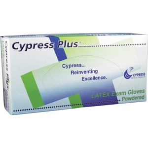 Cypress Plus Cypress Plus Lightly Powdered Smooth Latex Examination Gloves CYSMCPP049306