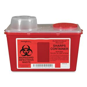 Sherwood Monoject Sharps 4qt Chimney Top Container CVDSCSM019236