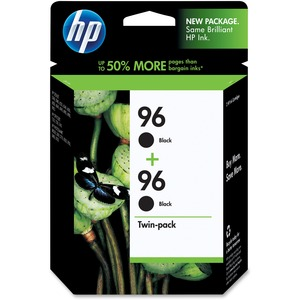 HP No. 96 Twinpack Black Ink Cartridge - Inkjet - 860 Page - Black - 2 / Pack