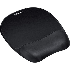 Fellowes Memory Foam Mouse Pad/Wrist Rest- Black - TAA Compliant FEL9176501