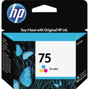 HP 75 Tri-color Original Ink Cartridge HEWCB337WN