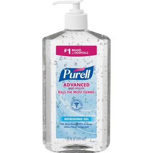 Gojo PURELL Instant Hand Sanitizer - 20fl oz - Pump Bottle Dispenser - Moisturizing - Clear