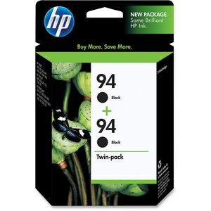 HP No. 94 Twinpack Black Ink Cartridge - Inkjet - 480 Page - Black - 2 / Pack