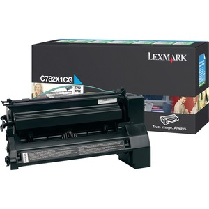 Lexmark Extra High Yield Return Program Cyan Toner Cartridge LEXC782X1CG