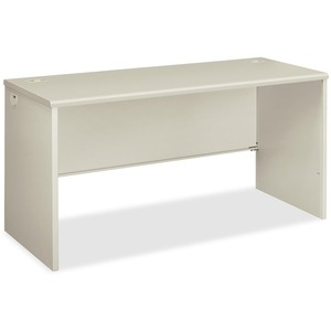 "HON 38000 Series Desk Shell - 60"" Width x 24"" Depth x 29.5"" Height - Radius Edge - Steel - Light Gray"