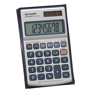 Sharp Twin Power Metal Calculator SHREL326SB