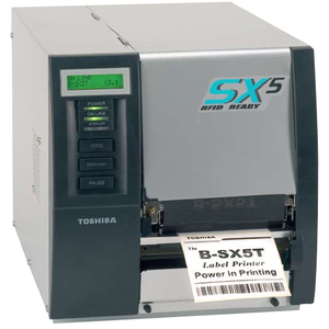 TOSHIBA TEC B-SX5T 5 WIDE 305 DPI INDUSTRIAL THERMAL BARCODE PRINTER 8 IPS PEELER/REWINDER