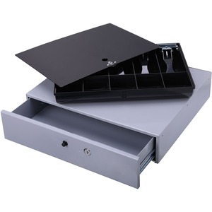 Sparco Removable Tray Cash Drawer - Gray