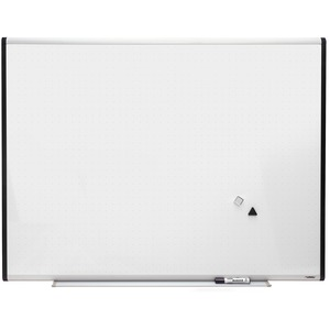Lorell Signature Magnetic Dry Erase Board with Grid Lines - 4ft x 3ft