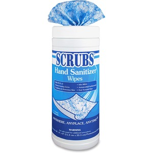 ITW Dymon SCRUBS Hand Sanitizer Wipe - Antimicrobial