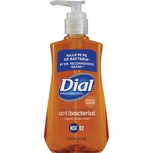 Dial Liquid Soap - 7.5fl oz - Push Pump Dispenser - Antimicrobial, Anti-bacterial