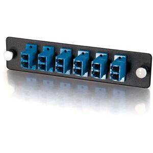 C2G Q-Series 12-Strand, LC Duplex, PB Insert, MM/SM, Blue LC Adapter Panel