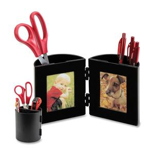 Deflect-o Pencil Cup With Photo Frame DEF35004