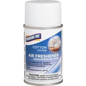 Genuine Joe Metered Air Freshener - Aerosol - Cotton - 30 Day