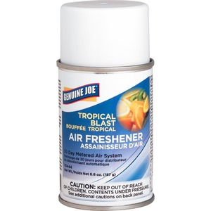 Genuine Joe Metered Air Freshener - Aerosol - Tropical Blast - 30 Day
