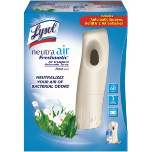 Reckitt Benckiser Neutra Air Treatment Kit - 9 Minute, 18 Minute, 36 Minute Spray Setting - 60 Day(s) Refill Life - 2 x AA Battery - Clear
