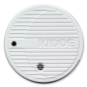 Kidde Battery Powered Fire Smoke Alarm - 85 dB - Flashing LED - Security Alarm - White
