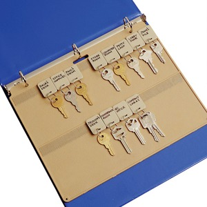"MMF Key Panel - 9"" Length - 22 Key Capacity - Rectangular - Plastic - 1 Each - Beige"