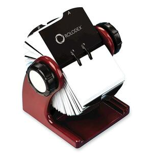 Rolodex Wood Tones Rotary Business Card File - 400 Card